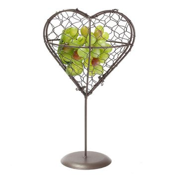 Provincial Metal Hanging Planter Heart Pot Plant Holder Flower Basket