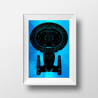 Star Trek Poster, USS Enterprise-D, The Next Generation, Star Trek Ships