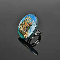 Unique Ring Made of Polymer Clay Flying Ship handmade adornment for women