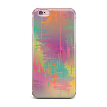 "Graphic Tabby ""Rainbow Storm"" Multicolor Abstract iPhone Case"