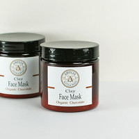 Face Mask Organic Chocolate Face Masque Natural Facial Certified Organic Chocolate Kaolin Clay - Organic Dark Chocolate Face Mask