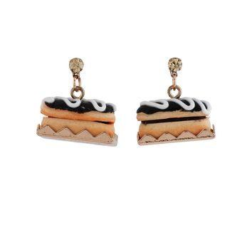 N2 by Les Néréides GOURMET COFFEE FRENCH CHOCOLATE ECLAIR EARRINGS