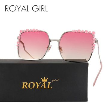 ROYAL GIRL Oversize Square Sunglasses Women Designer Retro Ombre Glasses ss247