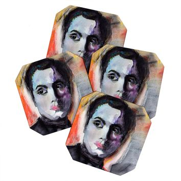 Ginette Fine Art Charles Boyer The Way I See Him 1 Coaster Set
