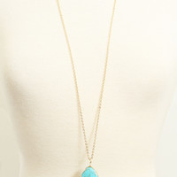 Gold Encrusted Turquoise Stone Necklace