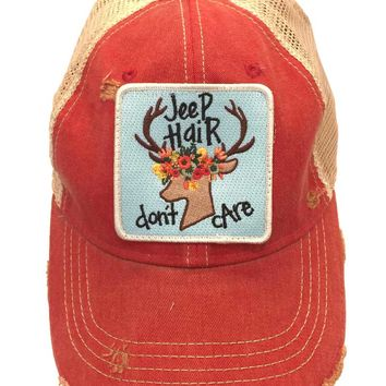 Judith March Jeep Hair Don't Care Trucker Hat 930H-62