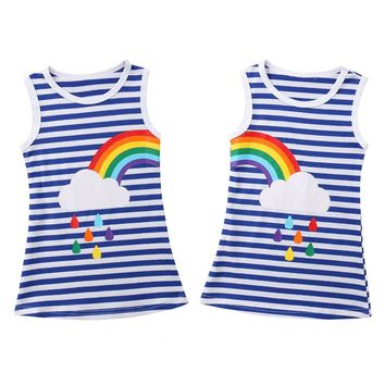 Blue Stripe Rainbow Dress Best Friends