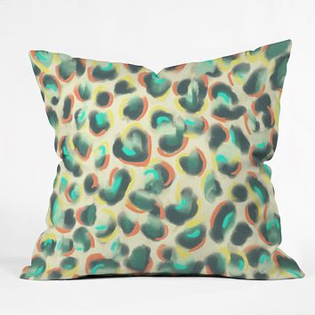 Jacqueline Maldonado Leopard Warm Throw Pillow