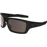 OAKLEY 9003 01 TURBINE XS JUNIOR MATTE BLACK WARM GREY SUNGLASSES SOLE KIDS