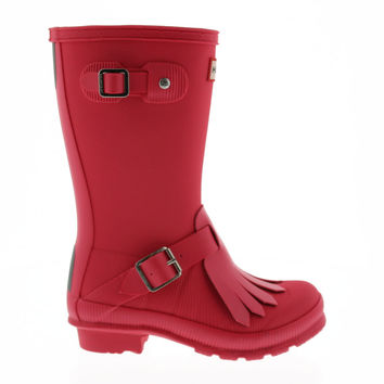 Hunter Girls Youth Original Textured Fringe Rain Boot at Von Maur