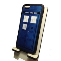 Doctor Who Tardis Iphone 6 (4.7-Inch) Black Flexible Soft TPU Case Slim Case for iPhone 6 (4.7) (2014)