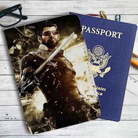 Deus Ex Mankind Divided Sword Leather Passport Wallet Case Cover