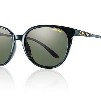 Smith - Cheetah Black Sunglasses, Polarized Gray Green Lenses