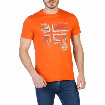Napapijri Men Orange T-shirts