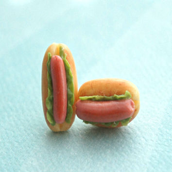 Hotdog Sandwich Earrings