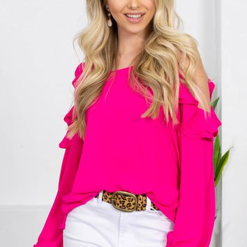 Habana Soul Flutter Top | Hot Pink