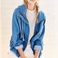 BDG Drapey Denim Anorak Jacket