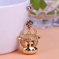 Cow Animal Piercing (Belly Button Ring)