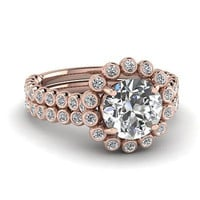 AMAZING 1.63CT ROUND SOLITAIRE STUD 925 STERLING SILVER ENGAGEMENT RING FOR HER