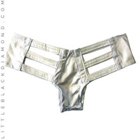 Shiny Lamé Cutout Bottoms