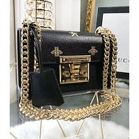 GUCCI New fashion bee star leather high quality shoulder bag women Black
