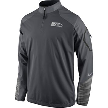 aaef00c25 Mens Seattle Seahawks Nike Charcoal Platinum Fly Rush 2.0 Pullover Jacket