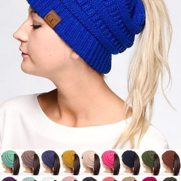 CC Pony Tail Beanie - Kids & Adult - Many Colors!
