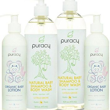 Puracy Natural and Organic Baby Care Gift Set