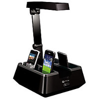 OttLite 13 Watt HD Charging Valet Desk Lamp 16 H Black by Office Depot