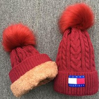 Tommy Hilfiger Knit And Pom Hat Cap-2