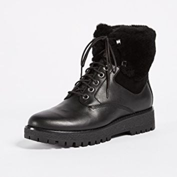 Teddy Shearling Hiking Boots