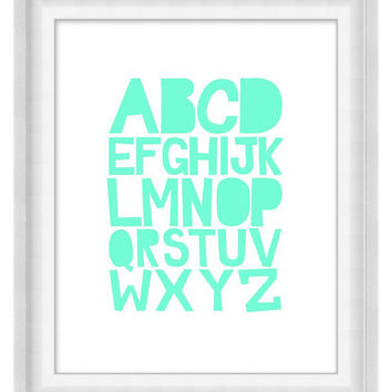 Printable Poster - ABCs Soft 'n' Sweet - Vertical 8x10 - Digital Wall Art