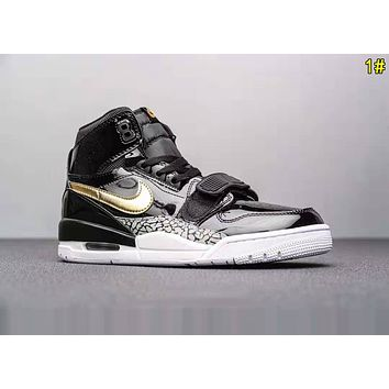 Nike Air Jordan Legacy Newest Popular Men High Top Sport Sneakers Basketball Shoes 1# Black