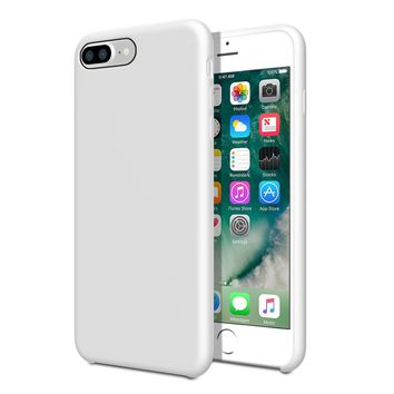 iPhone 7 Plus case and iPhone 8 Plus case cover, Heavy duty Hybrid Soft Silicone Case, Shockproof TPU Rubber case for apple iPhone 7 Plus and iPhone 8 Plus. By- EZZYMOB (White)