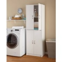 Mainstays 4-Shelf Multipurpose Storage Cabinet- White - Walmart.com