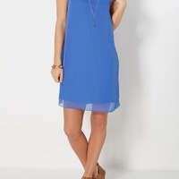 Royal Blue High Neck Shift Dress | Mini Dresses | rue21