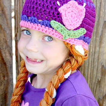 Frozen Inspired Princess Anna Crochet Hat -- Made to Order