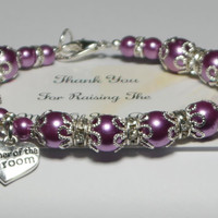 mother of groom gift - mom wedding gifts - parent wedding gift - wedding bracelet - grooms mom gift - grooms mother gift - handmade bracelet