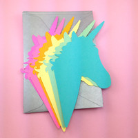 Unicorn Stationery Set of 6 with Envelopes