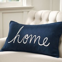 Home Sentiment Lumbar Pillow Cover