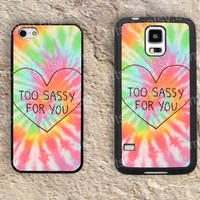 Heart too sassy for you  haunter iphone 4 4s iphone  5 5s iphone 5c case samsung galaxy s3 s4 case s5 galaxy note2 note3 case cover skin