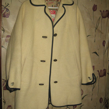 1960s vintage Teller Official Olympic Austrian Ski Team 1960 wool Coat jacket sz 10