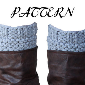 PDF PATTERN - Women's Boot Cuff Pattern - Thick & Chunky - Instant Download - HONESTY