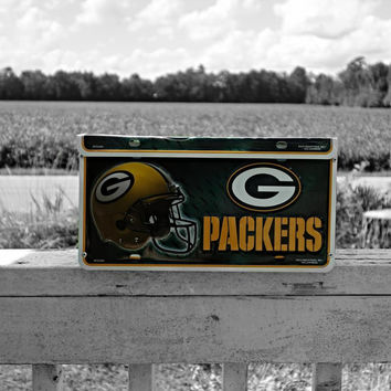 Green Bay Packers License Plate Wall Mount Mailbox