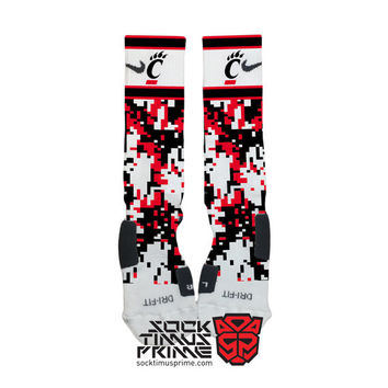 Custom Nike Elite Socks - Cincinnati Bearcats Custom Nike Elites - University of Cincinnati, Cincy, Cincinnati Bearcats, Custom Elites