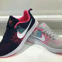 """Nike"" Fashion Casual Breathable Comfortable Knit Unisex Sneakers Couple Running Shoes"