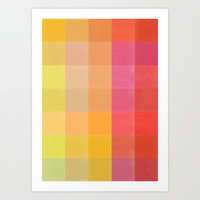Colorquilt 1 Art Print by Garima Dhawan