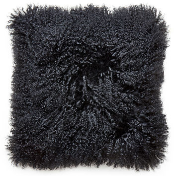 Mongolian Lamb Hair Throw Pillow
