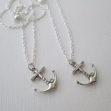 2 Love Anchor (Relationship), Best Friends Necklaces