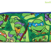 NEW Teenage Mutant Ninja Turtles Pencil Case | TMNT Bag | Makeup Case | Organizer | Zipper Bag
